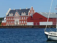 Korsør, in the old days it used to be a hotel called Hotel Storebælt (Great Belt)