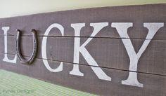Lucky Horseshoe Pallet Sign | FYNES DESIGNS