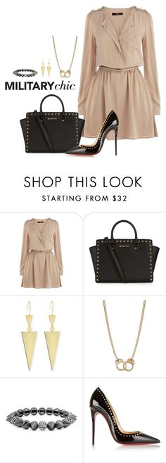 """""""#254 Military Chic"""" by crimsonday ❤ liked on Polyvore featuring Oasis, MICHAEL Michael Kors, Lana, Sugar NY, BaubleBar and Christian Louboutin"""