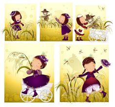 Elements of girl Scarecrow style Vector