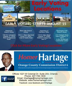 Early Voting Start August 15