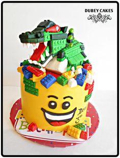 Lego Dinosaur Cake Cakes Created Pinterest Lego Dinosaur - Lego birthday cake decorations