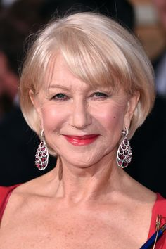 She's done myriad over-the-top hairstyles on the red carpet, but we're huge fans of this classic bob Helen Mirren sported last night.