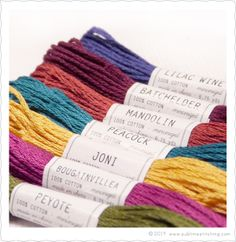 Sublime Stitching - New Sublime Floss - Laurel Canyon. LOVE these rich jewel tones. $8 for all 6