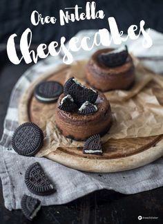 Mini Oreo Nutella Cheesecakes - einfache Cheesecake Törtchen backen