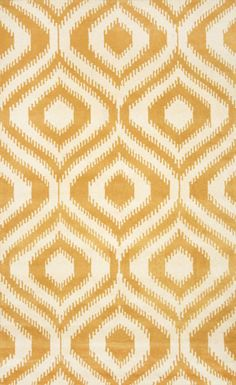 $5 Off when you share! Savanna Ikat Lattice VE12 Gold Rug | Contemporary Rugs #RugsUSA