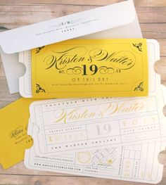 Formal Vintage Ticket Theater Movie Primiere by LetterBoxInk