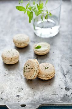 Lemon Verbena Macarons by tartelette, via Flickr
