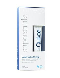 Want to lighten your teeth but don't have a lot of time? Glide the Supersmile Icy Mint Quikee ($18,supersmilestore.com) over your teeth. Its quick-dissolving gel will lift surface stains and freshen breath. 6 Ways To Whiten Your Smile (When You Don't Have A Lot Of Time) - Daily Makeover