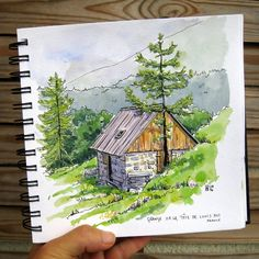 Landscaping Ideas For Shade House - - - Landscaping Design Plans Resort Watercolor Sketchbook, Pen And Watercolor, Watercolor Paintings, Watercolor Illustration Tutorial, Watercolors, Watercolor Books, Watercolor Texture, Landscape Sketch, Watercolor Landscape