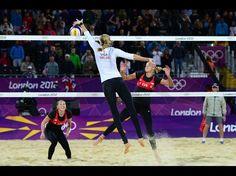 Beach volleyball scene ~ Women's Beach Volleyball ~ 2012 Olympic Games