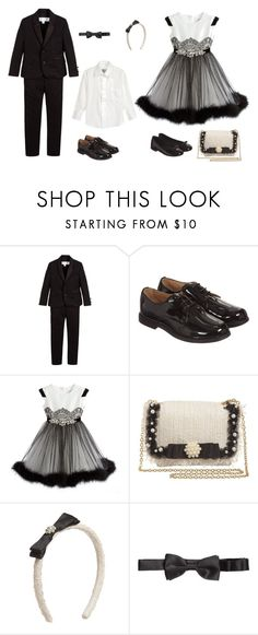 """""""Black and White Boy and Girl evening outfit"""" by bornintowealth on Polyvore featuring Burberry, Oxford and Val Max"""