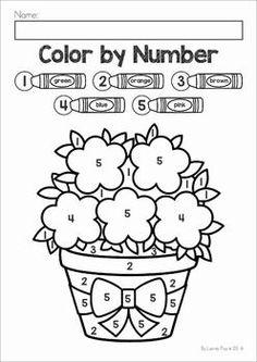 easy color by number worksheet printable