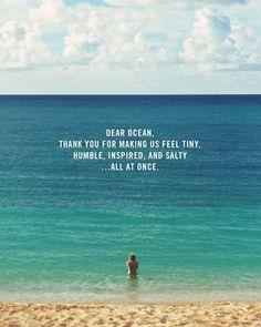 Dear Ocean... Thank
