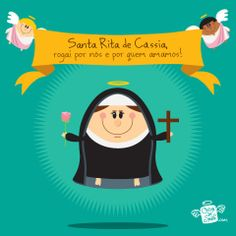 Santa Rita de Cassia | Coisa de Santo Santa Rita De Cascia, St Rita Of Cascia, Catholic Saints, Cute Little Things, Weekend Fun, Great Words, Namaste, Family Guy, Inspirational Quotes