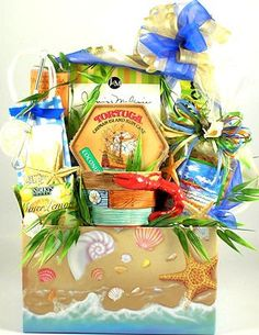 Gift Basket Drop Shipping Lifes a Beach, Summer Gift Basket- Large – Gift Basket Ideas Vacation Gift Basket, Summer Gift Baskets, Diy Gift Baskets, Gourmet Gift Baskets, Raffle Baskets, Boyfriend Gift Basket, Boyfriend Gifts, Themed Gift Baskets, Beach Gifts