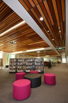 SUPAWOOD's SUPATILE SLAT panels has been used to address acoustics and ceiling accessibility throughout large areas of a multi-million dollar facility located at the Western Sydney Institute of TAFE Nepean College Kingswood Campus, NSW. Photo JadaArt.