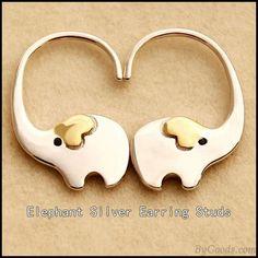 Simple Earrings, Cute Earrings, Women's Earrings, Diamond Earrings, Silver Earrings, Silver Ring, Silver Jewelry, Swarovski Jewelry, Diamond Jewelry