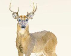 Wall sticker deer buck wall decal stag wall by SmockBallpoint