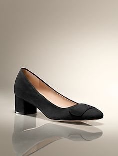 stand-by for black. . . Bryn Chunky-Heel Suede Pump