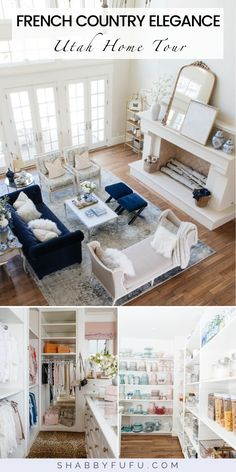 Elegant home tour with lots of ideas for modern French style decorating. The former home of Rachel Parcell and now updated by the new homeowner! #utahhomes #beautifulhomes #elganthomedesign #frenchcountryhome #frenchcountrydesign #homedesign #homeideas #designideas #bluedecor