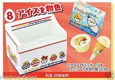 Sanrio Official Gudetama Miniture figure Convenience store 8. Ice Cream