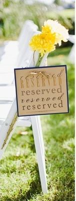 """""""Reserved"""" sign idea"""