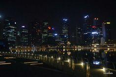 Singapore at night. Beautiful!