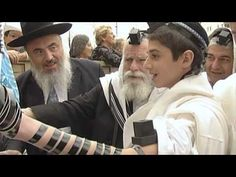 Bar Mitzvah at the Western Wall in Israel Western Wall, Bar Mitswa, Jerusalem Israel, Holy Land, Blessing, Music, Youtube, Letter, Bridal