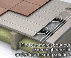 LoPro10 retro fit underfloor heating - underfloor heating