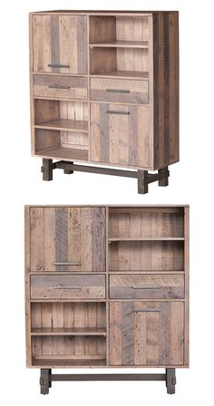 Make the most of a bare living nook with this handsome and well-equipped Tejon Highboard. Beautifully crafted from multi-finished recycled pine and set on crisp, clean line metal supports, this stunnin...  Find the Tejon Highboard, as seen in the A Luxury Camping Retreat Collection at http://dotandbo.com/collections/a-luxury-camping-retreat?utm_source=pinterest&utm_medium=organic&db_sku=128792