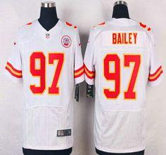 Kansas City Chiefs Jersey 97 Allen Bailey White Road NFL Nike Elite Jerseys