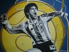 Diego Maradona. http://buenosairesstreetart.com/2011/10/maradona-street-art-2/