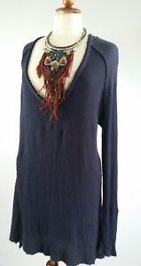 Free People Jumper/Sweater Tunic Size 16 Distressed Sweater Dress, Tunic Sweater, Jumper, Ebay Clothing, Size 16, Free People, Navy Blue, Sweaters, Clothes