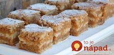 Najrýchlejší jablkový koláč na svete: Len nasypete na plech a máte hotovo – o všetko sa postará rúra! Czech Recipes, Little Cakes, Strudel, Thing 1, Biscotti, Apple Pie, Sweet Recipes, Ham, Sweet Tooth