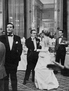 Grace and Prince Rainier at the Waldorf Ball