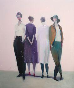 Kristin Vestgard Alongside oil on canvas 120 x 100 cm