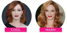 Warm: How the Tone of Your Hair Can Totally Change Your Look Cool vs. Warm: How the Tone of Red Hair For Cool Skin Tones, Cool Tone Hair Colors, Warm Red Hair, Shades Of Red Hair, Red Hair Color, Cool Hair Color, Warm Blonde, Auburn, Neutral Skin Tone