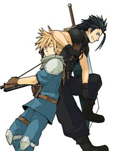 Cloud and Zack Final Fantasy 7