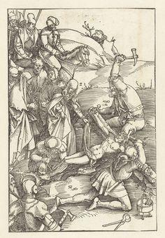 1507 Hans Baldung Grien, Christ nailed to the Cross (Christus aan het kruis genageld).  Tools = hammers,  pliers, toolbox.