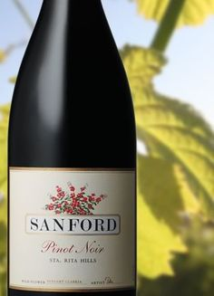 "From the Santa Rita hills comes this world-class excellent Pinot from Sanford Winery & Vineyards. Santa Barbara is a great place to visit for serious wine lovers. If you have seen ""Sideways,"" you will appreciate the wine country in this region even more!"