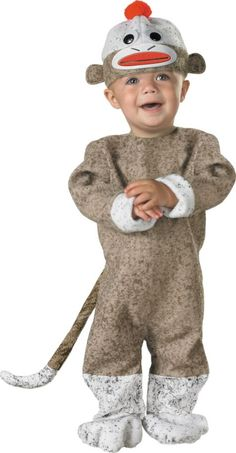 Disguise Sock Monkey Dress-Up Set - Infant Sock Monkey Costumes, Monkey Halloween Costume, Baby Halloween Costumes For Boys, Toddler Costumes, Baby Costumes, Halloween Kids, Infant Halloween, Family Costumes, Happy Halloween
