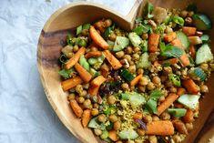 Marokkaanse couscous met geroosterde wortel - Lisa goes Vegan