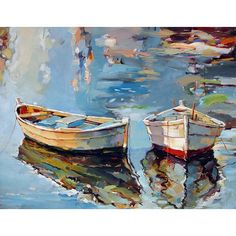 〰〰〰〰〰 • 'Small Boats I' •  Oil on canvas • ➖  Artist:  Georgi Kolarov ➖   www.georgikolarov.com