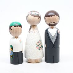 Weddings Decor Cake Toppers with Pet or child The Original Custom Wedding Cake Personalized Custom Wedding Gift Goose Grease wooden dolls