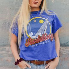Vintage Redding California Tee One of a kind :) fits small/med Vintage Tops Tees - Short Sleeve
