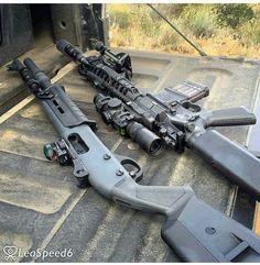 Tactical Assault Rifle and Shotgun