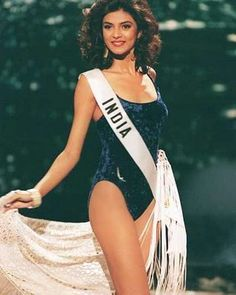 She won the Miss Universe crown the same year Aish won the Miss World crown. But somehow, even though Miss universe was considered more prestigious and she beat Ash in the Miss India competition, Sush hasn't quite had the same luck  careerwize as Ash has had!    Lingerie Police says: simple and elegant 2 words that say when we look at her in a velvet swimsuit!