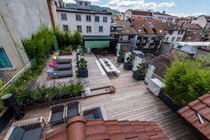 """Toit terrasse au cœur du centre-ville d'Annecy. Projet de réhabilitation """"Villa Lisa"""". www.archinicoletti.fe Crédit photo : Fabrice Malot"""