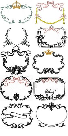 Beautiful and versatile French Frames embroidery designs